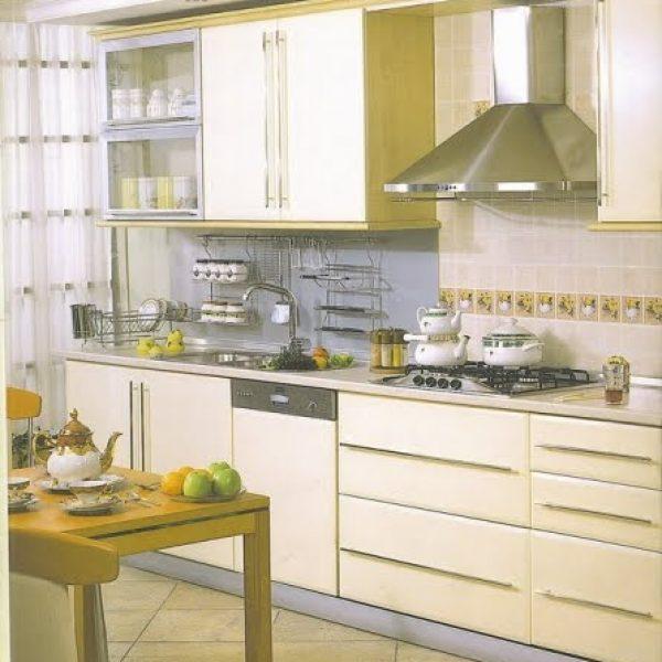 Laminat Kaplama Mutfak Dolabı Modelleri